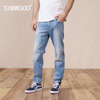 Erkek Jeans Simwood 2021 Bahar Düzenli Düz Erkekler Moda Ripped Rahat Kot Pantolon Artı Boyutu Marka Giyim SK130189