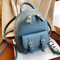 Мода Alligator Mini рюкзак для женщин Симпатичная маленькая задняя часть в 30 см роскошный дизайнер Mochilas Para Mujer Высококачественные сумки