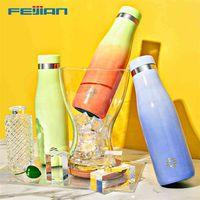 Feijian WG500 Термохромная бутылка для воды 18/10 Вакуумная колба из нержавеющей стали из нержавеющей стали Спорт Термос Кубок Cust Cert Cold BPA бесплатно 210907