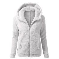 Mujer con capucha con capucha abrigo Outwear de manga larga abrigos chaqueta de invierno parka más tamaño 5xl