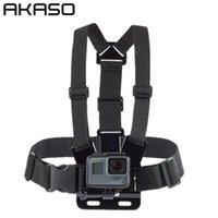 Axel Bröstbälte Rem Mount för Akaso Tillbehör SJ4000 Tillbehör för Go Pro Hero HD Hero Utomhus Action Camera Y0720