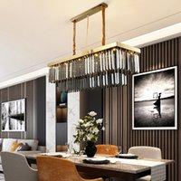 80cm 100cm 120cm 150cm contemporary rectangle smoky crystal gold chandelier lighting for dining room restaurant hotel club decoration