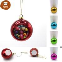 Sublimation Blanks 6cm Christmas Ball Decorations Transfer Printing Heat Press DIY Gifts Craft Xmas Tree Ornament gf