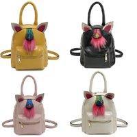 Vieeoase الفتيات حقيبة لطيف يونيكورن ظهره الخريف الأزياء اليدوية الأذن بو حقيبة حقيبة مدرسية EE-549