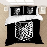 Bedding Sets Anime Attack On Titan 3D Printed Set Duvet Covers Pillowcases Comforter Bedclothes Bed Linen(NO Sheet)