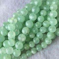 Veemake Yeşil Prehnite DIY Kolye Bilezikler Küpe Doğal Charm Taş Kristal Yuvarlak Gevşek Boncuk Takı Yapımı için 06069