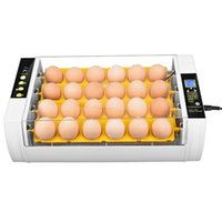 Air Purifiers Fully Automatic 24 Eggs Brood Broiler Breeder Poultry Incubator Hatcher Machine Moisture Control With Egg Turner EU US Plug
