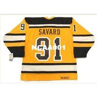 "001s # 91 Marc Savard Boston Bruins 2010 CCM 빈티지 ""겨울 클래식""하키 유니폼 또는 사용자 정의 모든 이름 또는 번호 Retro Jersey"
