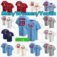 28 Нолан Аренадо Джерси Кардинал 2021 Пользовательские St. Louis 46 Paul Goldschmidt 4 yadier Molina 1 Ozzie Smith 13 Matt Carpenter Бейсбол