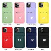 Карточная сумка Слайд-окна Камеры защита Чехлы для защиты Телефона для iPhone 12 11 Pro Max XR XS 6 7 8 плюс задняя крышка Корпус мобильного телефона TPU