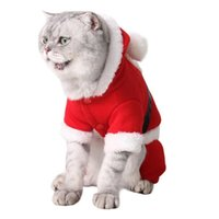 Cat Costumes Pet Christmas Funny Cosplay Santa Claus Costume For Dogs Cats Hoodie Jumpsuit Year Puppy Jumpsuits