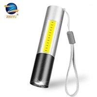 Фонарики факелы USB аккумуляторные мини-светодиодные 3 освещения мод водонепроницаемый горелка зум стильный портативный костюм для ночного освещения1