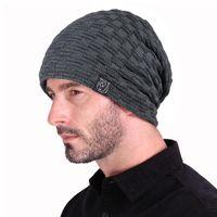 Beanies Men Women Slouch Knit Beanie Skull Cap Long Baggy Hip-Hop Winter Hat Earflap Unisex Sports Mens Womens Slouchy Knitted Hats