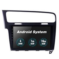 VW 골프 7 2013-2015 GPS 네비게이션 시스템 지원 Carplay 디지털 TV DVR Rearview CA 용 자동차 DVD 라디오 10.1 인치 안드로이드 헤드 유닛 플레이어