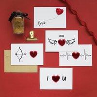 Nuevas tarjetas 1pc Tarjetas de San Valentín Día de San Valentín Postal Invitación de boda Tarjetas de felicitación Aniversario para su tarjeta de regalo del día de San Valentín