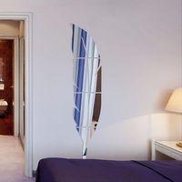Akrilik Tüy Ayna Sticker 3D Sanat Çıkarılabilir Duvar Çıkartmaları Yaratıcı DIY Soyunma Ayna Duvar Çıkartması Yatak Odası Oturma Odası Dekorasyon 691 K2