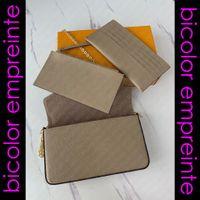 Bicolor M69977 Félicie Felicie Pochette Tasarımcısı Kadınlar Omuz Çapraz Vücut Zinciri Cüzdan Flap Debriyaj Çanta Anahtar Kart Tutucu Zippy Çanta Kılıfı