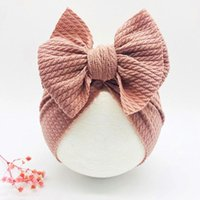 Caps & Hats Solid Baby Knitted Beanies Cute Bear Ear Bowknot Turban Sweet Soft 0-4T Elastic For Born Boy Girls Headwraps