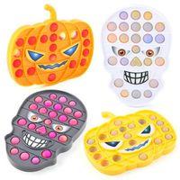 US Stock Party Favor Halloween Theme Push Bubble Dynia Czaszka Fidget Zabawki Anti Stress Squishy Board Decompression Toy
