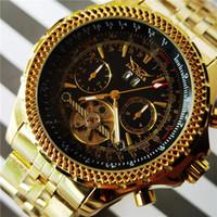 Horloges Jaragar 2021 Gouden Zwart Automatische Mechanische Horloges Tourbillon Datum Zakelijke Mode Stalen Band Sport Self-Wind Horloge voor mij