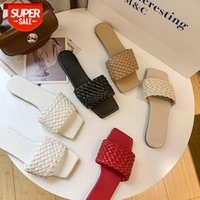 Slippers women's summer word braided belt wear light sandals Korean version of the lazy non-slip all-match beach shoes #1g1V