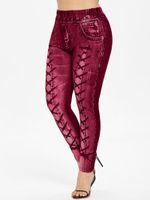Women's Leggings High Waist Firebrick 3D Print Casual Skinny Elastic Women Pants Trousers Fitness Top Sales