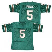 Ray de Hommes Finkle 5 Ace Ventura Pet Détective Jim Carrey Film Football Jersey Teal Couts