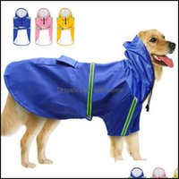 Dog Supplies Home & Gardendog Apparel Pet Reflective Raincoat Waterproof Clothes Outdoor Windproof Jacket For Small Medium Large Dogs Drop D