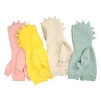 Kids Tales Spring Baby Boys Girls Dino Hoodies Warm Fleece Hoody Children Pullover Jumpers Older Outerwear 210915
