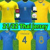 Top21 / 22 Ukraine Soccer Jerseys 2021 2022 Vitaliy Mykolenko Oleksandr Zinchenko Ruslan Malinovskyi فيكتور Tsygankov فريق الرجال كرة القدم