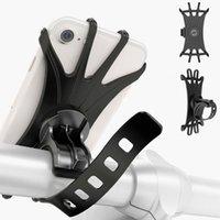 Universal Bike Mobile Phones Holder Bicycle Mount Silicone Motocicleta Pram Handlebar Phone Bracket Mounts Suportes