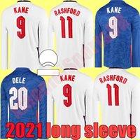 2021 Euro Tasse Langarm Dele ALLI Fussball Jerseys Kane Rashford Vardy Barkley Sterling Sturgel Sancho Jersey Erwachsene Männer Fußball Hemd