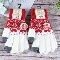 new style Winter Touch Screen Gloves Women Men Warm Stretch Knit Mittens Five Fingers Glove thicken Keep warm