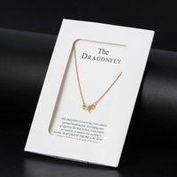 Wunschkarte 1 Stück Förderung Schildkröte Libelle Pendelle Kette Halskette Alles ist möglich Niedliche Schmuckgeschenke mit Umschlag CN76