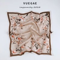 Novo estilo temperamento seda quadrado lenço pequeno lenço de seda mulheres primavera outono coreano fino fino flor versátil decorativo decorativo xale