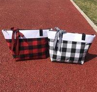 Newhome Buffalo Verifique a bolsa 30 * 45 * 15cm grandes sacos de armazenamento capacidade de viagem de capacidade de armazenamento sacos de maternidade vermelho xadrez mamãe mamãe zza6650