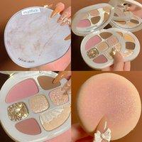 Ombre à la paupière coquille 8 couleurs curseur mate perle flash poudre blanche assiette de maquillage facile à main facile