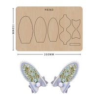 Wood Mold Cutting Dies Bowknot Hairpin Template Diy Scrapbook Card Craft Suitable For Common Sizzix Machines