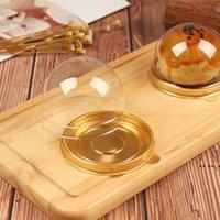 Caja de pastel de plástico Newround Caja de embalaje de hornear Huevo Yolk Biscuit Golden Black Black Blister Blister para huéspedes Favors Favores EWF5708