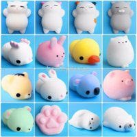 10Pcs set Mini Animal Toy For Baby Cat Soft Cute Sticky Antistress Ball Squeeze Rising Toy For Children Kids Stress Relief Gift DD
