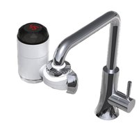 Elektrikli Isıtma Musluk Anında Lavabo Musluklar Sıcak Su Isıtıcı Ile LCD Sıcaklık Ekran Için Ev Banyo Mutfak 2126 V2
