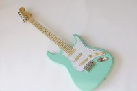 Mint Green Body Electric Guitar with SSS Pickups,White Pickguard,Chrome Hardware,Maple neck,Offer Customized
