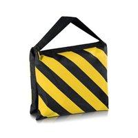 Accessori da studio illuminazione 6 confezione Dual Handle Sandbag, Black / Yellow Saddlebag per Pografia Video Stage Film Light Stands Boom Arms Treppiede