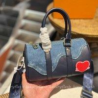 Sac d'oreiller en denim de designer XS Bandbody sacs femmes Desigenr poignée poignée sacs à main rétro hommes cross cordge sac à main bleu coutures