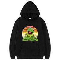 Men's Hoodies & Sweatshirts Funny Frog Anime Print Hoodie Men Streetwear Women Oversize Unisex Cute Sportswear Harajuku Cartoon Trend Sweats