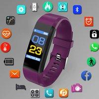 Sportuhr Männer und Frauen Armband 115 plus Smart Armband Fitness Tracker Druck Herzfrequenz Monitor Kinder Handgelenk Band
