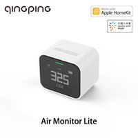 Smart Home Control Qingping Air Monitor Lite CO2 PM2.5 PM10 Temperature Humidity Detector Touch Operation Work For Mi App HomeKit Rechargeab