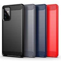 Cajas de teléfono celular de fibra de carbono a prueba de choques del escudo robusto para Samsung A72 A71 A52 A51 A32 5G A42 A12 A02S A01 Core
