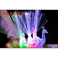 LED Glow Peacock Finger Light Lampe Laser ANELLO ANELLO PIBRE OTTICO BAMBINO Flash Kid fluorescente lucido al neon lampeggiante Jllzwf Home003