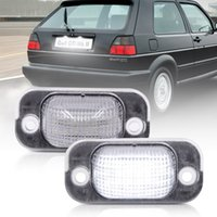 2шт белый автомобиль светодиодные задние номера лицензий номерные фонари банка 12V для VW Golf II 1983-1992 Jetta 1984-1991 аксессуары задняя лампа